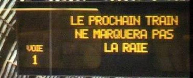 Massacrons le français!: Un train d'enfer