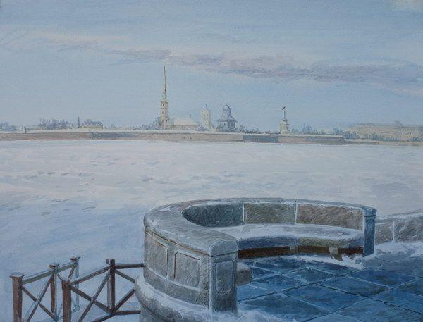 Виктория Кирьянова.Санкт Петербург. Вид на Петропавловскую крепость
