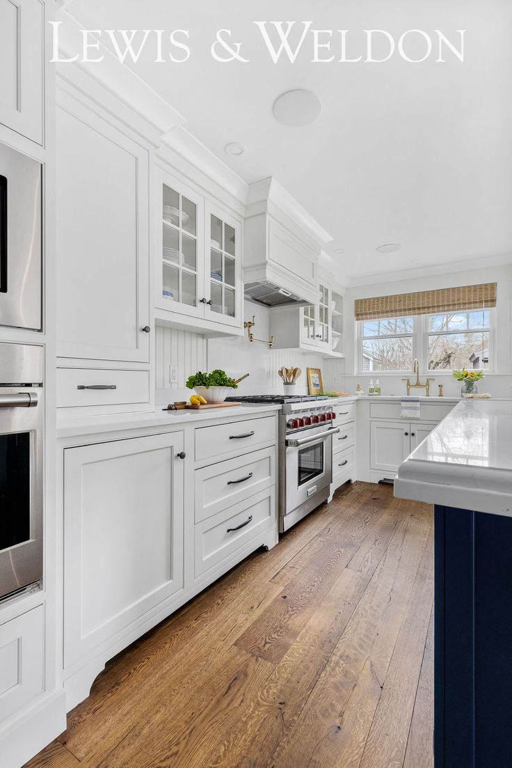 Classic Cape Cod Navy and White Kitchen in 2020 Custom