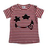 Funny Face tee - Red/white stripe