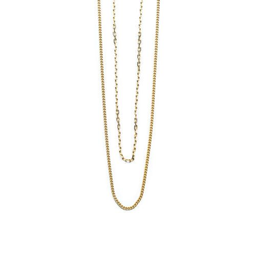 Vibe Harsløf. Style: Anna double chain necklace gold Foto: Kasper Buchardt Thye