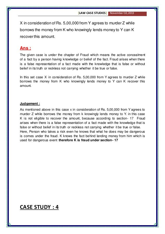 Business Law Case Studies With Solution Business Law Case Study