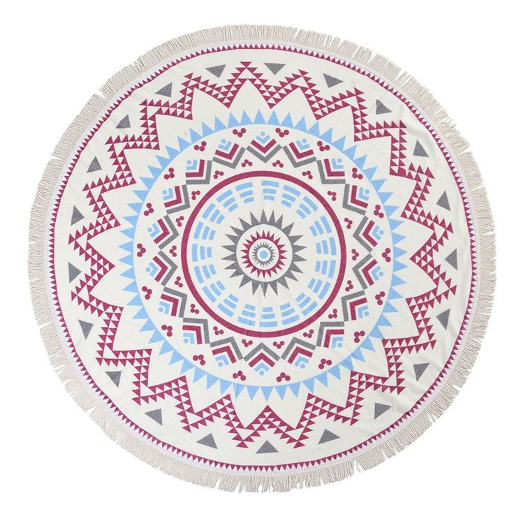 Woweile Round Hippie Tapestry Beach Throw Roundie Mandala Towel Yoga Mat Bohemian – Meditative Life Guide