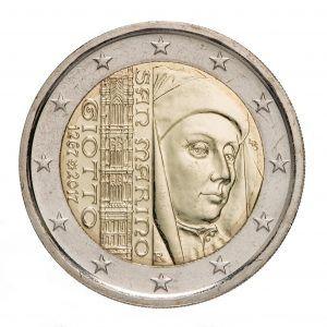 """San Marino 2 Euro-Gedenkmünzen 2017 """"750. Jahrestag der Geburt von Giotto"""""""