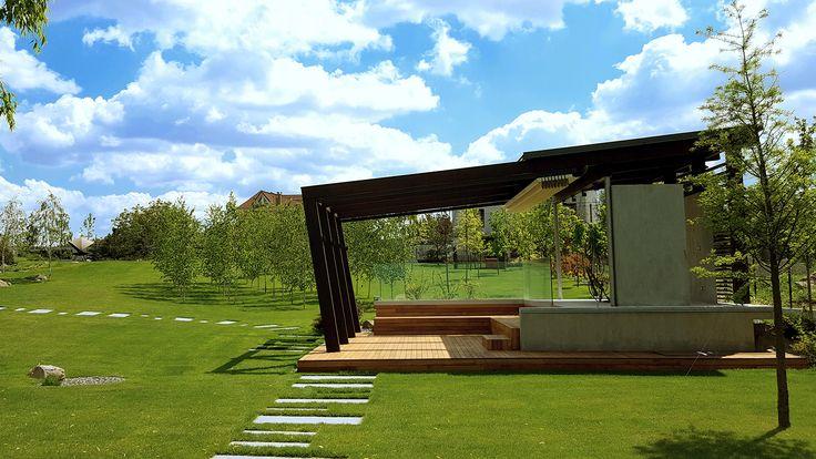 Arhitectura Gradinii LV este realizata printr-un proiect intocmit in colaborare cu BTF Arch si ofera celor doua case un cadru natural, curat, romantic.
