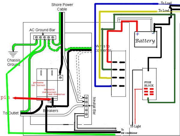 electrical schmatic      Camper    camping      Trailer       wiring       diagram        Camper    trailers  Electrical