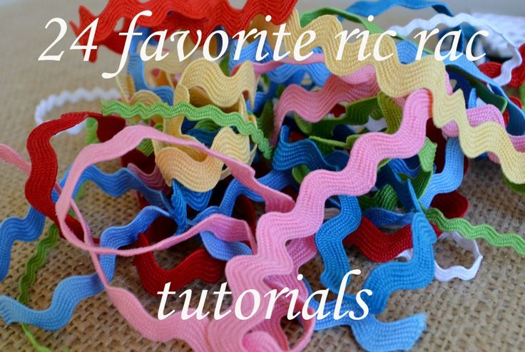 24 FAVORITE RIC RAC TUTORIALS - neat ways to use ric rac.  Check out my website for a variety of colors and sizes of ric rac.  www.allstitchedupbyangela.com