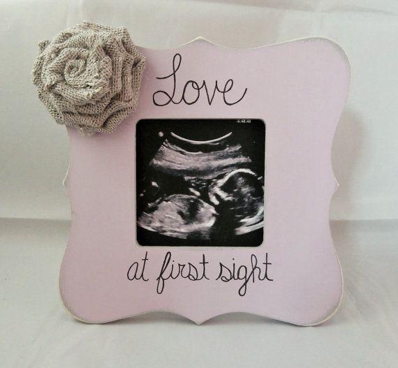 Ultrasound frame sonogram frame new baby by EmbellishedForLove