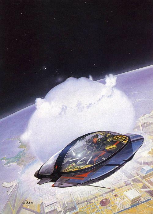 Sci-fi art by Peter Andrew Jones.