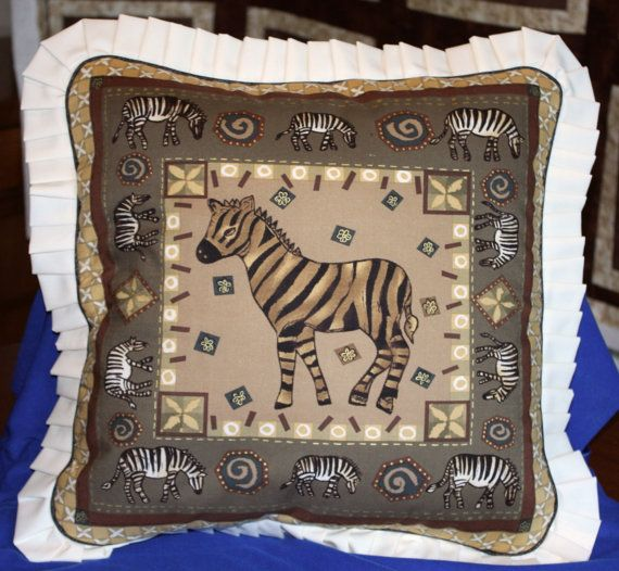 Cushions  African Wildlife  Zebras by SewflairUK on Etsy, £12.50