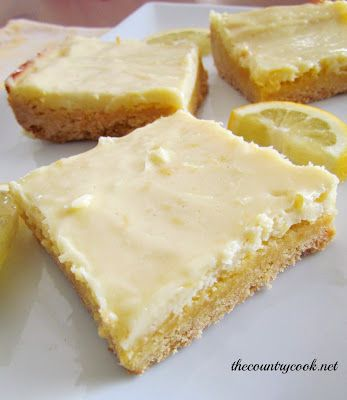 The Country Cook: Cream Cheese Lemon Bars: Cookies Bar, Lemon Bars, Cream Chee Lemon Bar, Food, Sweet Treats, Country Cooking, Sweet Tooth, Cream Cheese Lemon Bar, Cream Cheeses