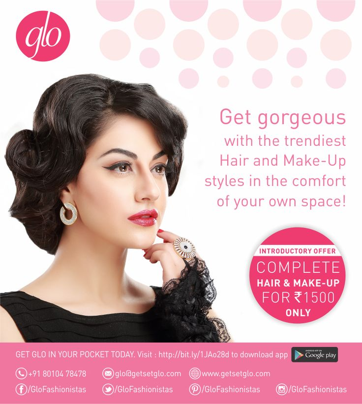 Let's Glo! Special promotional offer - Rs. 1500, inclusive of hair and make-up! Beauty providers at your doorstep - no more traffic hours, no more juggling your busy life. Just call or e-mail us and we'll come to wherever you are! #Glo #hair #beauty #onthegostyling #fashionistas #DelhiNCR