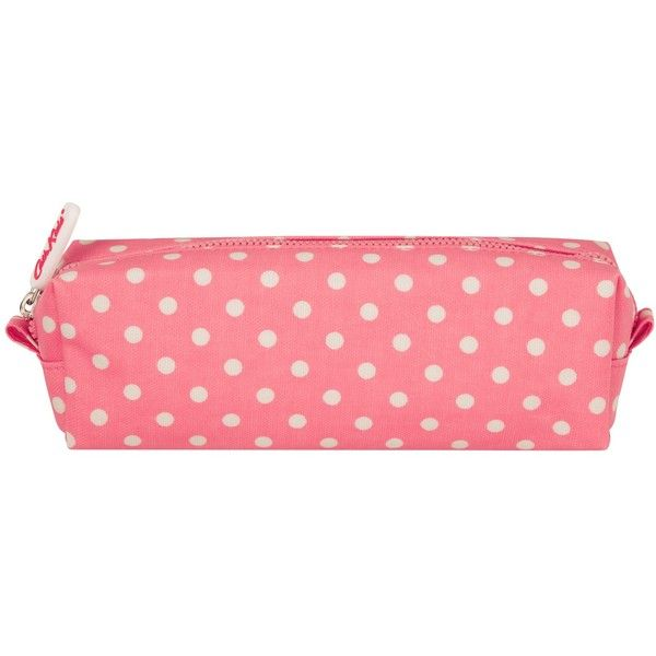 Buy Cath Kidston Little Spot Pencil Case, Pink | John Lewis ($12) ❤ liked on Polyvore featuring home, home decor, office accessories, pink pencil pouch, pink office accessories and pink pencil case