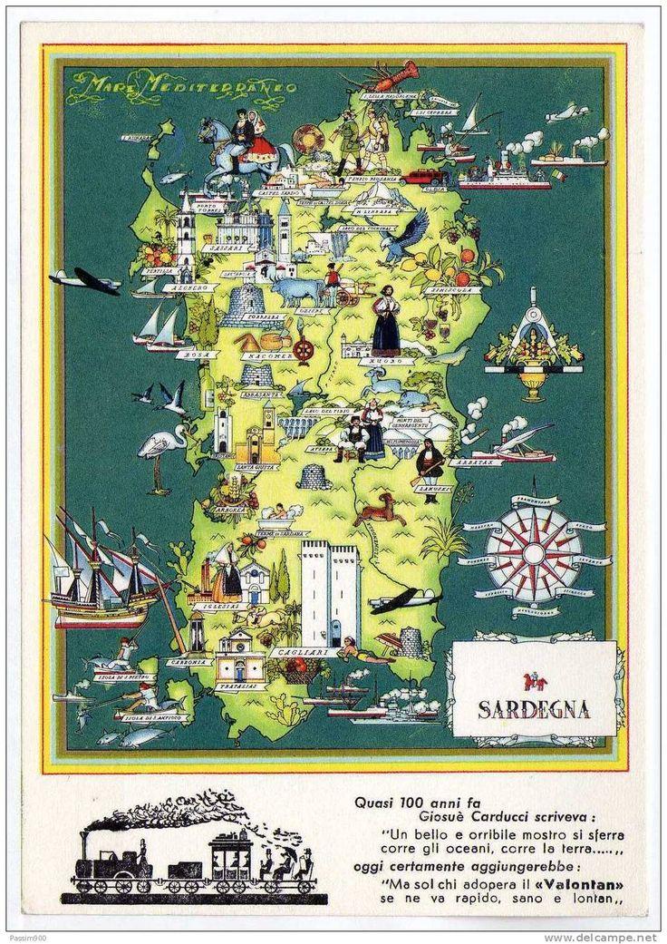 Map of Sardinia Nicouline 280 best