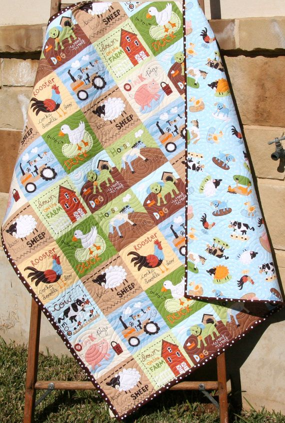 Farm Tractor Bedding : Best ideas about farm quilt on pinterest cowboy