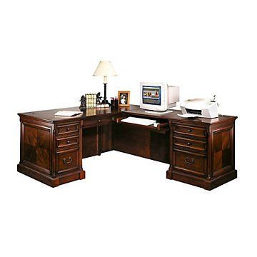 mount view traditional right return l desk loft office pinterest rh pinterest com
