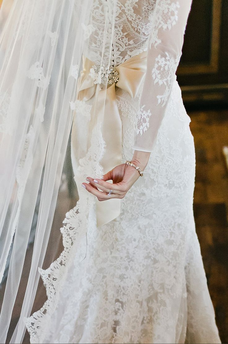Real bride, Willow by Allure. Styled with sash and Vintage broach. By Rose Couture at The Tailor's Cat, Cambridge www.thetailorscat.co.uk 01223366700