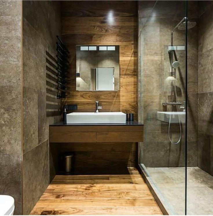 Walk Shower Luxury Bathroom With Stone