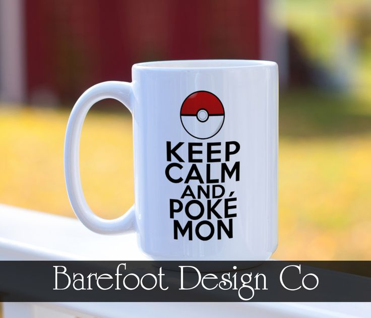 Pokemon Go Pokeball Keep Calm and Pokemon Coffee Cup Mug by BarefootDesignCo on Etsy https://www.etsy.com/listing/452659574/pokemon-go-pokeball-keep-calm-and