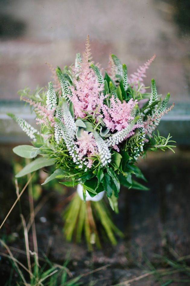 pretty pink blooms for the bridesmaids
