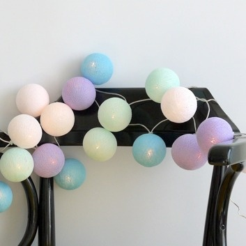 Cotton Ball Lights :: Baby Lavender 35 bullets