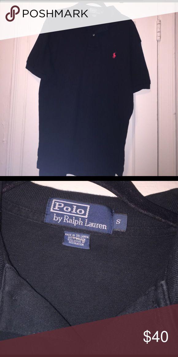 Black Polo Shirt by Ralph Laurn Like New - Black Ralph Lauren Piolo shirt Polo by Ralph Lauren Shirts Polos