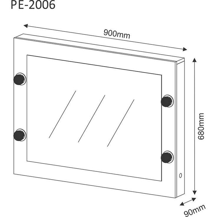 Compre Espelho Camarim PE2006 - Tecno Mobili Branco   Lojas Marabraz