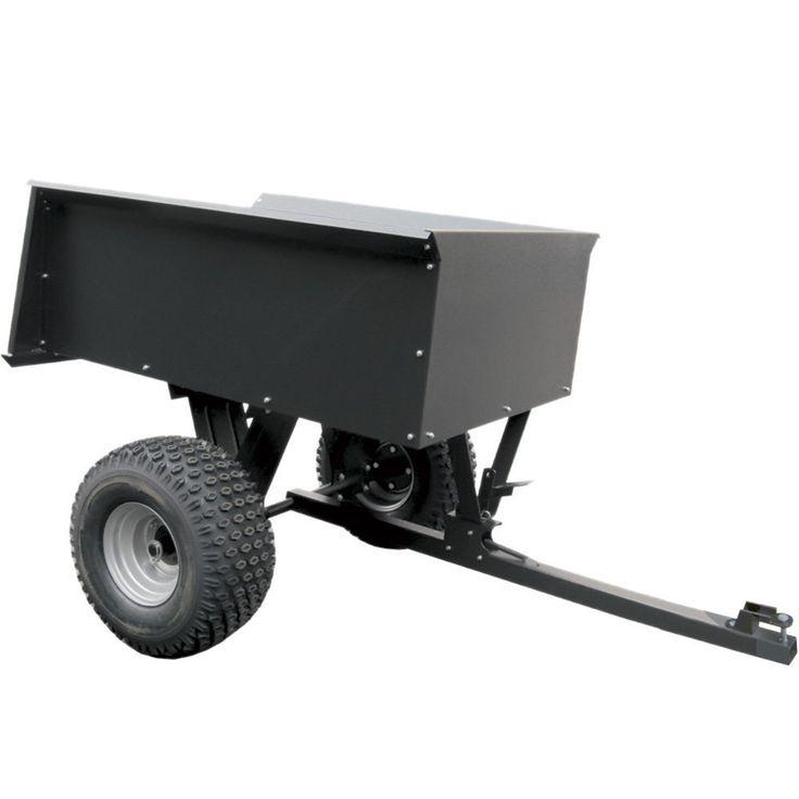 remorque basculante en acier pour quad ATV avec boule d'attelage - 680 kg: Amazon.fr: Bricolage