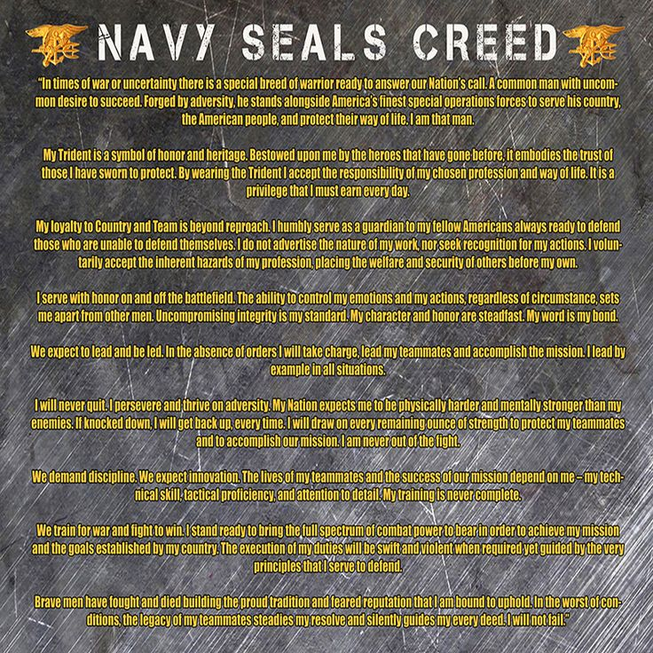 Navy Seals Creed Poster | usa military posters