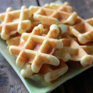 Waffle Cookies! Too adorable and I need to try this out. Maybe with a maple glaze?...
