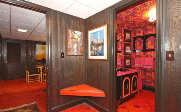 """""""The original owner built the house and customized it and did all the decor in…"""