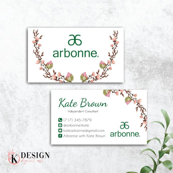 Pin On Arbonne Business Cards