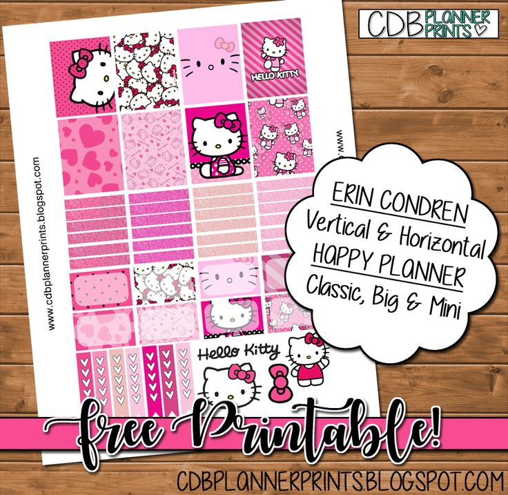Please comment below if you are using! The more comments and downloads the more free printables I create!                   Erin Condren Ve...