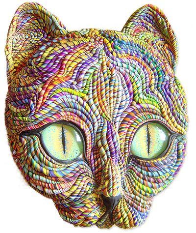 Cosmic cats | Polymer Clay Daily (made by Jane Priser).