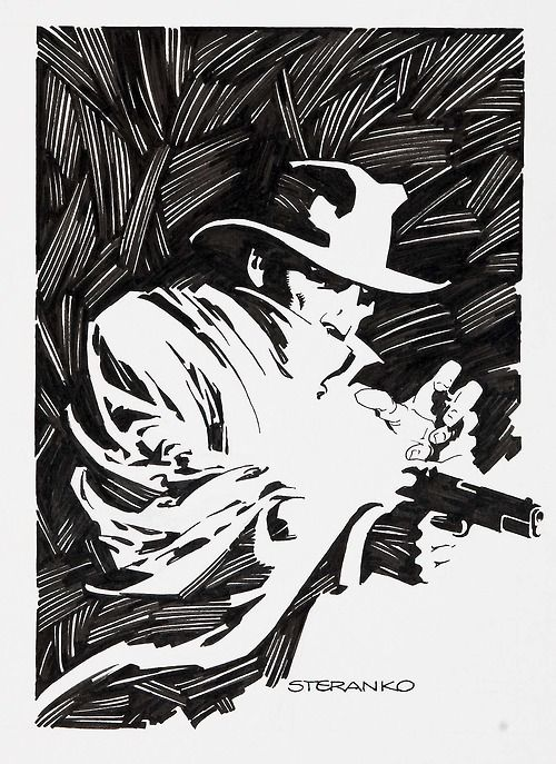 The Shadow illustration by Jim Steranko.