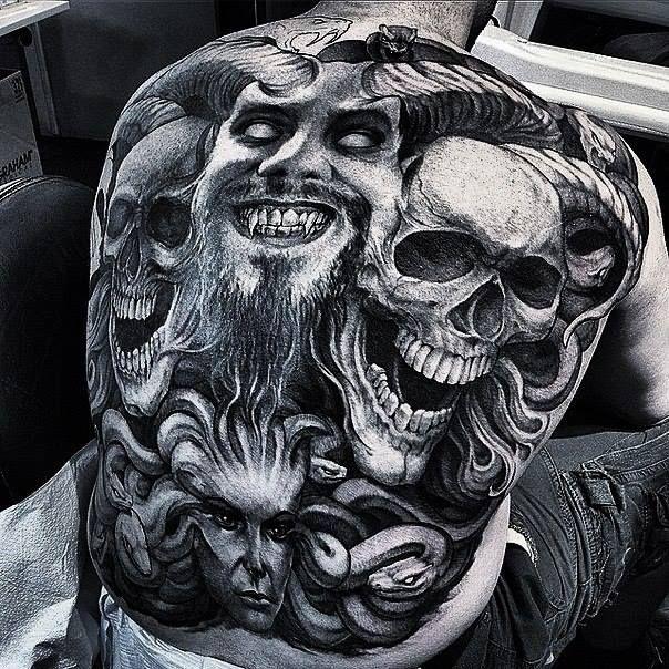 Sick and Scary Devil Tattoo From TattoosWIn.com