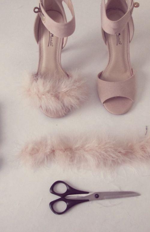 DIY Fluffy Heels for under $30