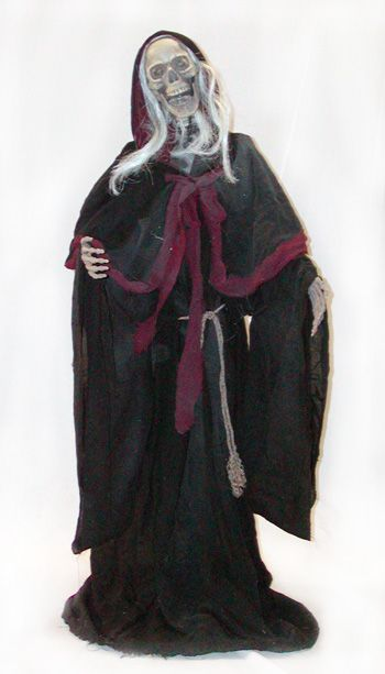 grim reaper skeleton decorations props halloween express