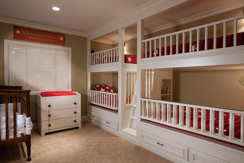 Bon This Bunk Bed Guest Room Also Has A Crib. Traditional Kids By GDC  Construction