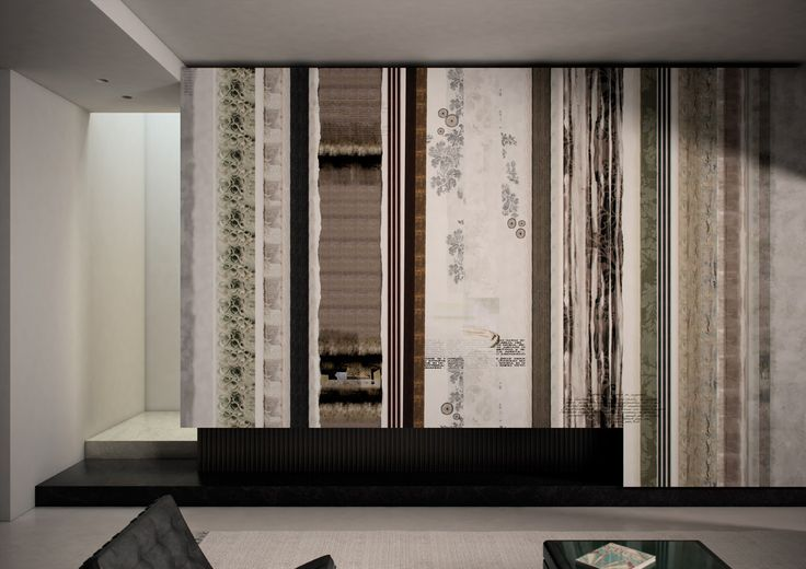 Heavenly Strips: Carta da parati Pop // Pop Wall Covering by Glamora