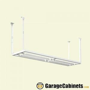 Overhead Garage Storage Racks help you use the least utilized storage space in your garage – the ceiling. Choose from 3 different sizes to fit your needs.