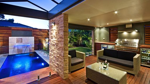 Outdoor entertaining area