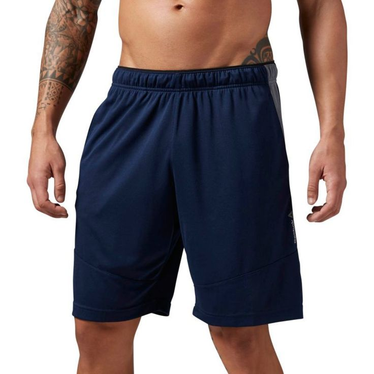 Reebok Men's Workout Ready Knit Shorts, Size: Small, Blue