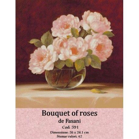 Goblen set de vanzare Bouquet of roses http://set-goblen.ro/flori/3569-bouquet-of-roses.html
