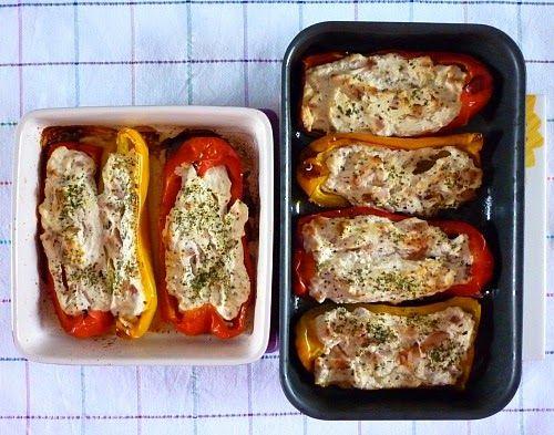 Stuffed peppers . Peperoni ripieni