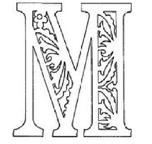 вытынанка русские буквы алфавит трафарет м