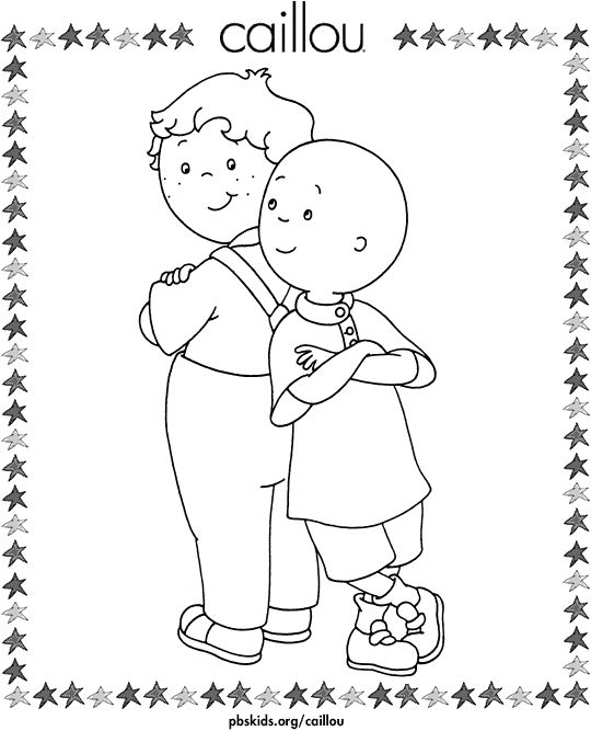coloring pages leo and caillou - Caillou Gilbert Coloring Pages