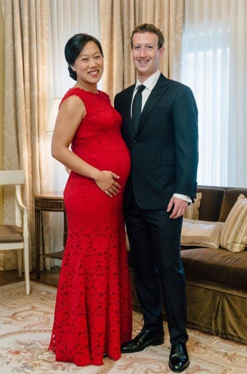 Mark Zuckerberg and pregnant wife Priscilla Chan