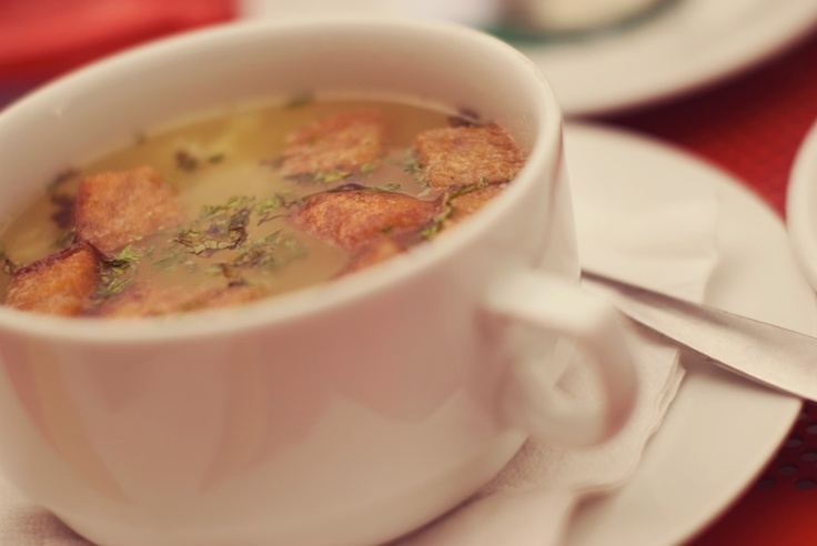 Garlic soup - Three in Děčín