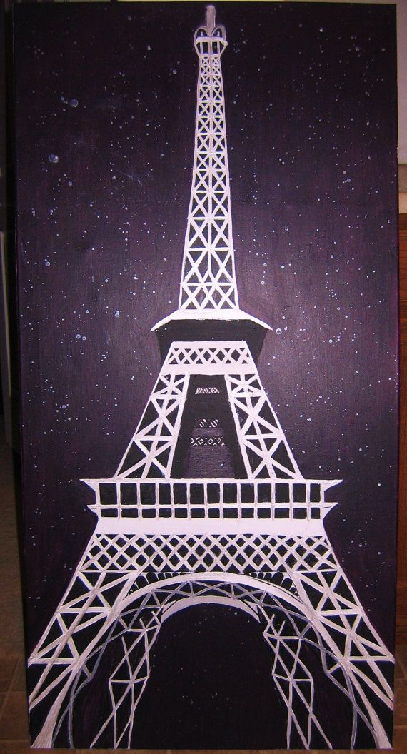 2 ft x 4 ft Acrylic Painting, Eiffel Tower @ Night - Etsy.com/shop/zenlightenment
